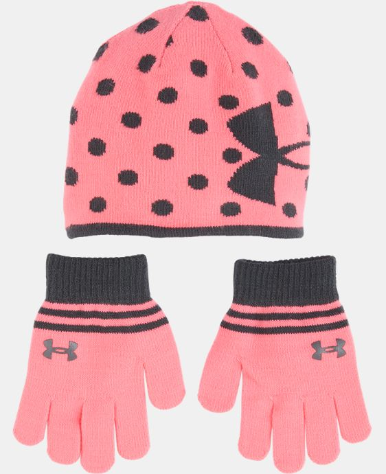 New Arrival Girls' Pre-School UA Beanie & Glove Combo Pack LIMITED TIME: FREE U.S. SHIPPING  $29.99