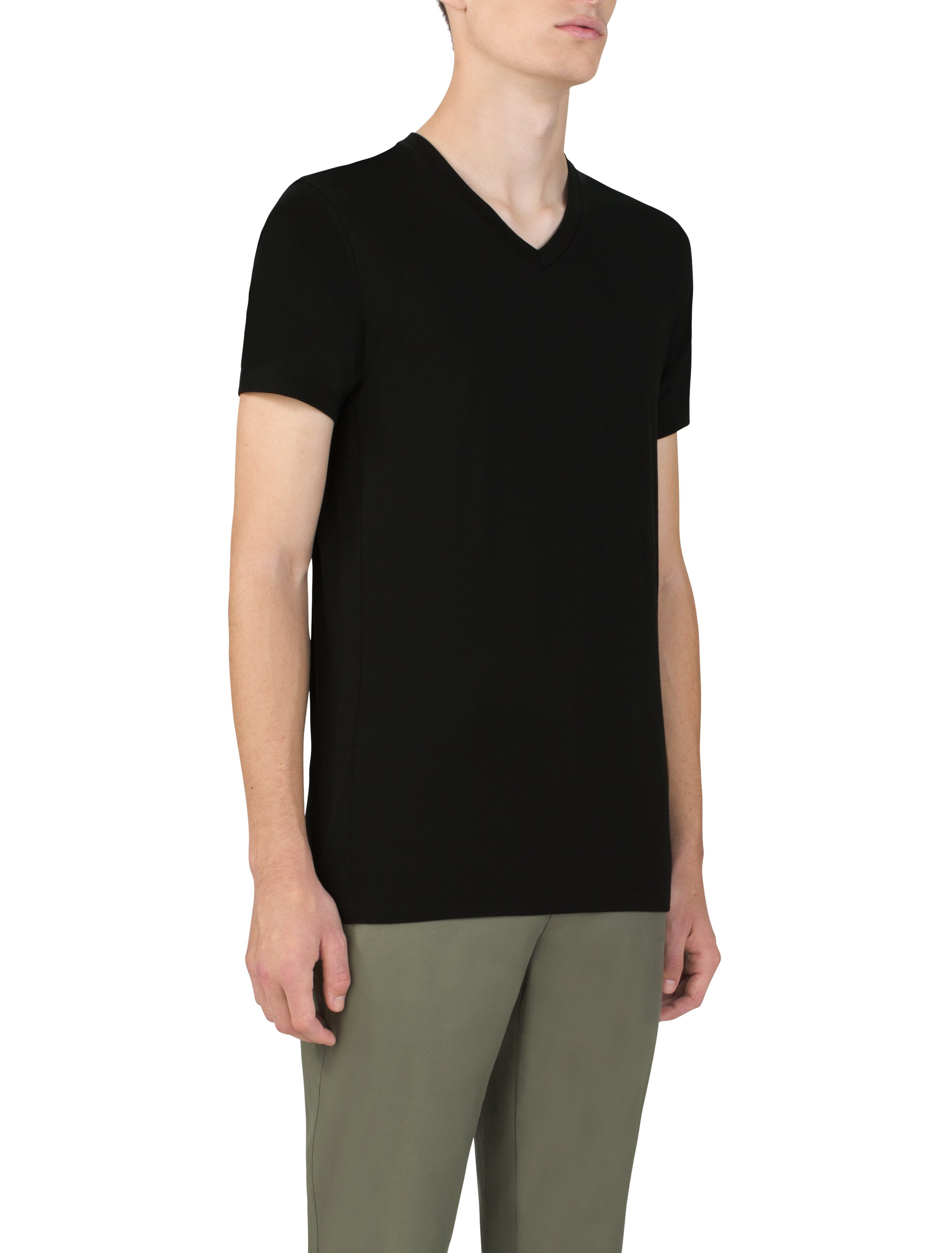 Men's UAS Prime Short Sleeve V-Neck, Black , undefined
