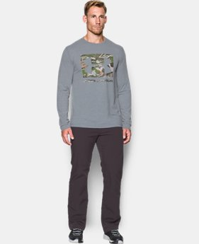 Men's UA Camo Knockout Long Sleeve T-Shirt  1 Color $26.24