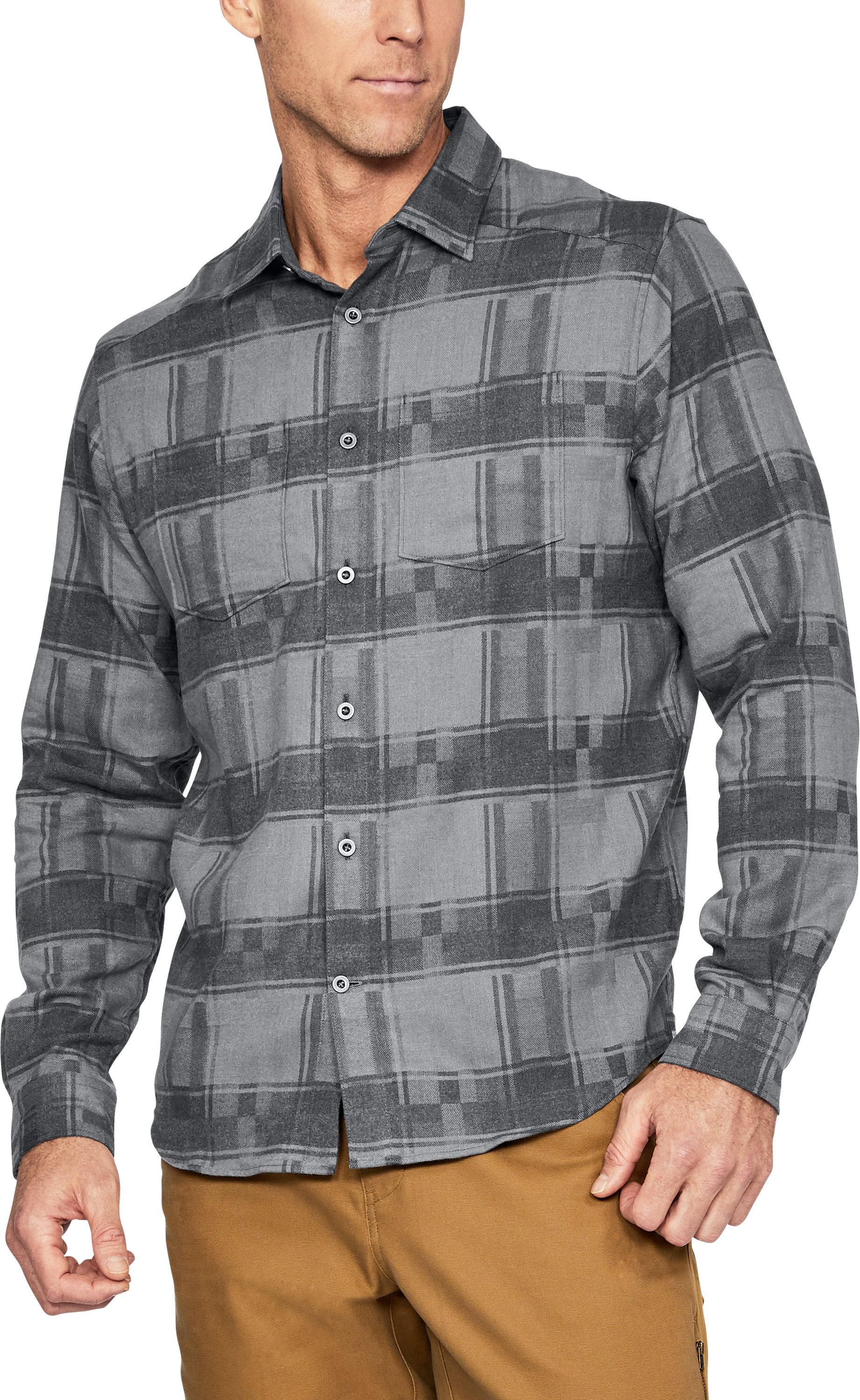 Men's UA Borderland Flannel, Graphite,