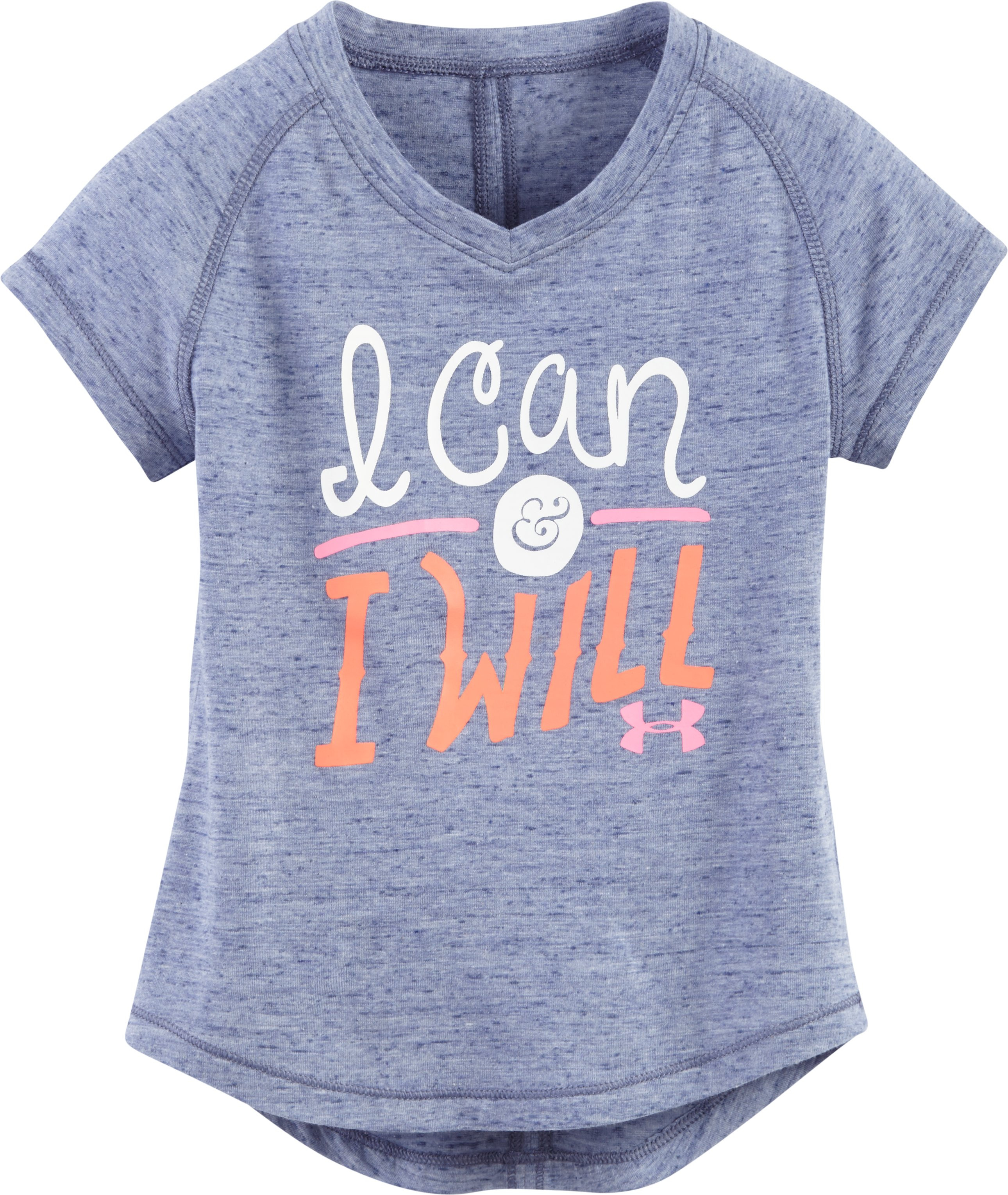 Girls' Pre-School UA I Can & I Will V-Neck, AURORA PURPLE, Laydown