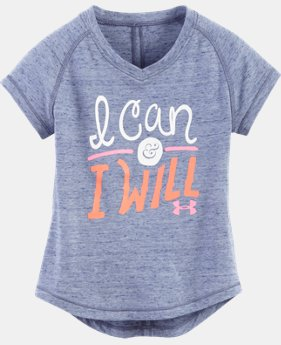Girls' Pre-School UA I Can & I Will V-Neck LIMITED TIME: FREE U.S. SHIPPING 1 Color $16.99