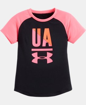Girls' Pre-School UA Favorite Raglan Short Sleeve Shirt LIMITED TIME: FREE U.S. SHIPPING 1 Color $16.99