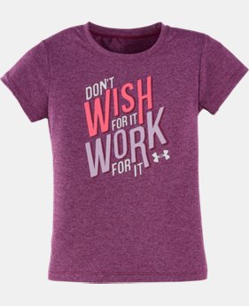 Girls' Toddler UA Work For It T-Shirt LIMITED TIME: FREE U.S. SHIPPING  $13.99