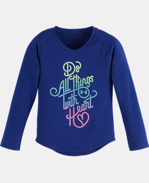 Girls' Pre-School UA Do All Things With <3 V-Neck LIMITED TIME: FREE U.S. SHIPPING 1 Color $18.99