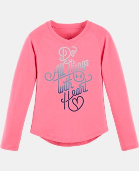 New Arrival Girls' Pre-School UA Do All Things With <3 V-Neck  1 Color $24.99