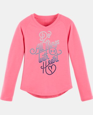 Girls' Pre-School UA Do All Things With <3 V-Neck LIMITED TIME: FREE U.S. SHIPPING 1 Color $24.99