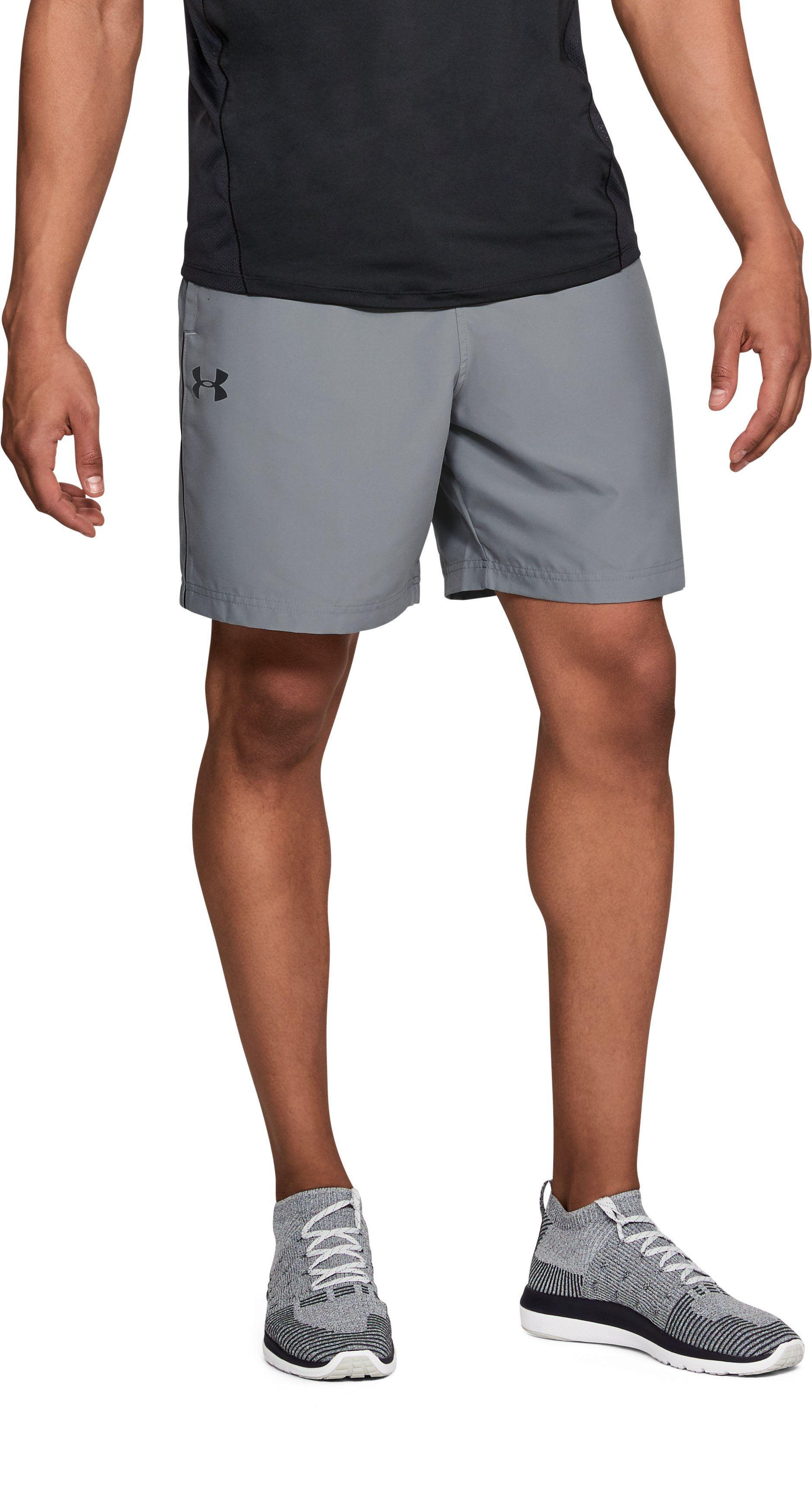 Men's UA Woven Graphic Shorts, Steel