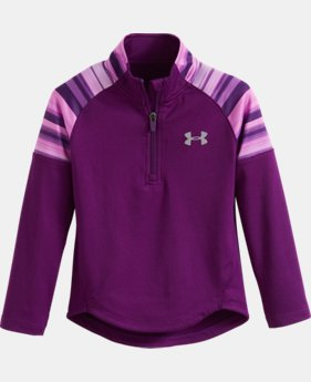 Girls' Toddler UA Blurred Shimmer Stripe 1/4 Zip LIMITED TIME: FREE U.S. SHIPPING  $34.99