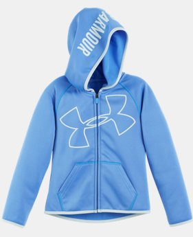 New to Outlet Girls' Toddler UA Glitter Jumbo Big Logo Hoodie  1 Color $29.99