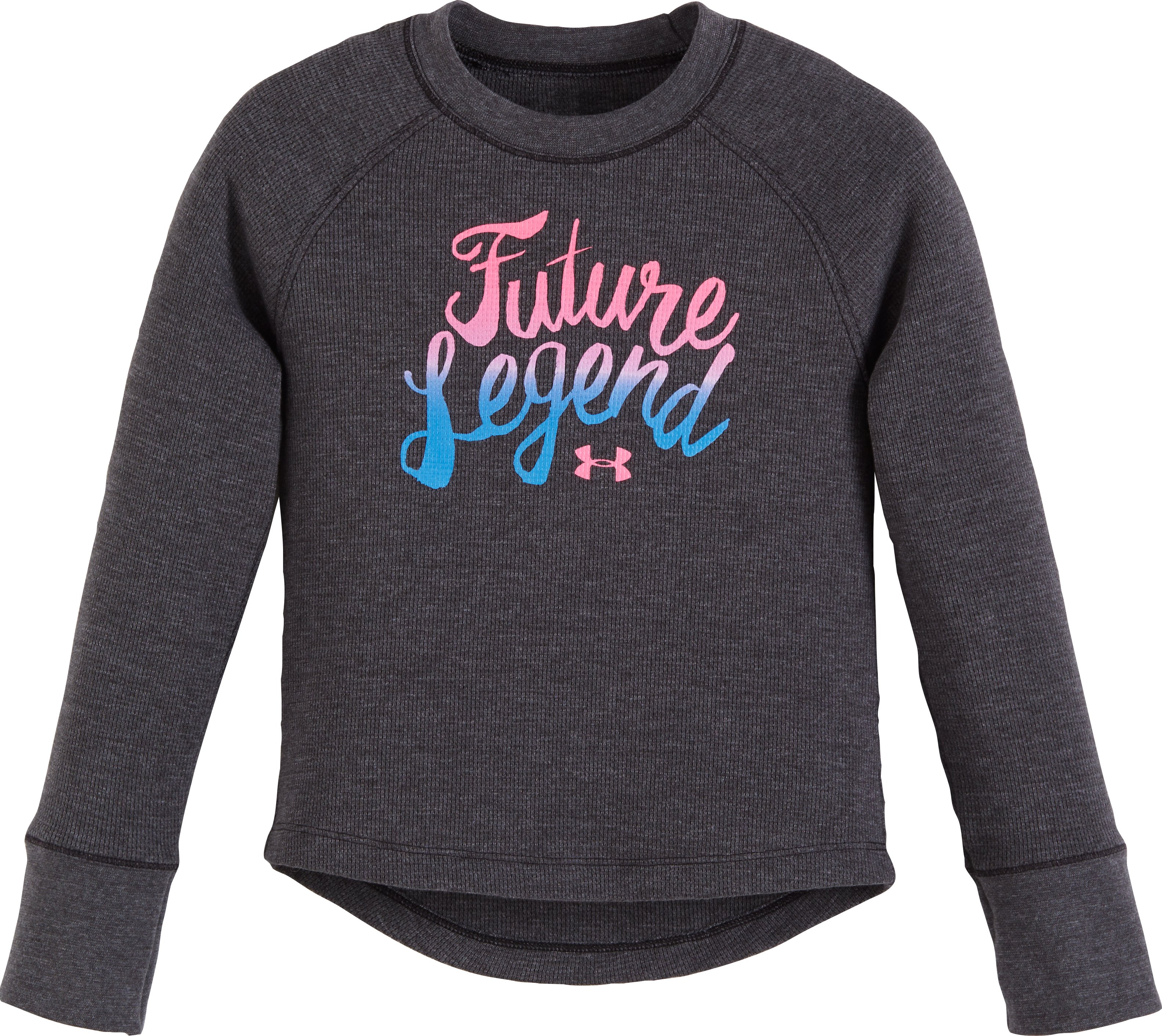 Girls' Pre-School UA Future Legend Long Sleeve, Carbon Heather