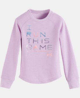 New Arrival Girls' Toddler UA I Run This Game Long Sleeve Shirt LIMITED TIME: FREE U.S. SHIPPING  $29.99
