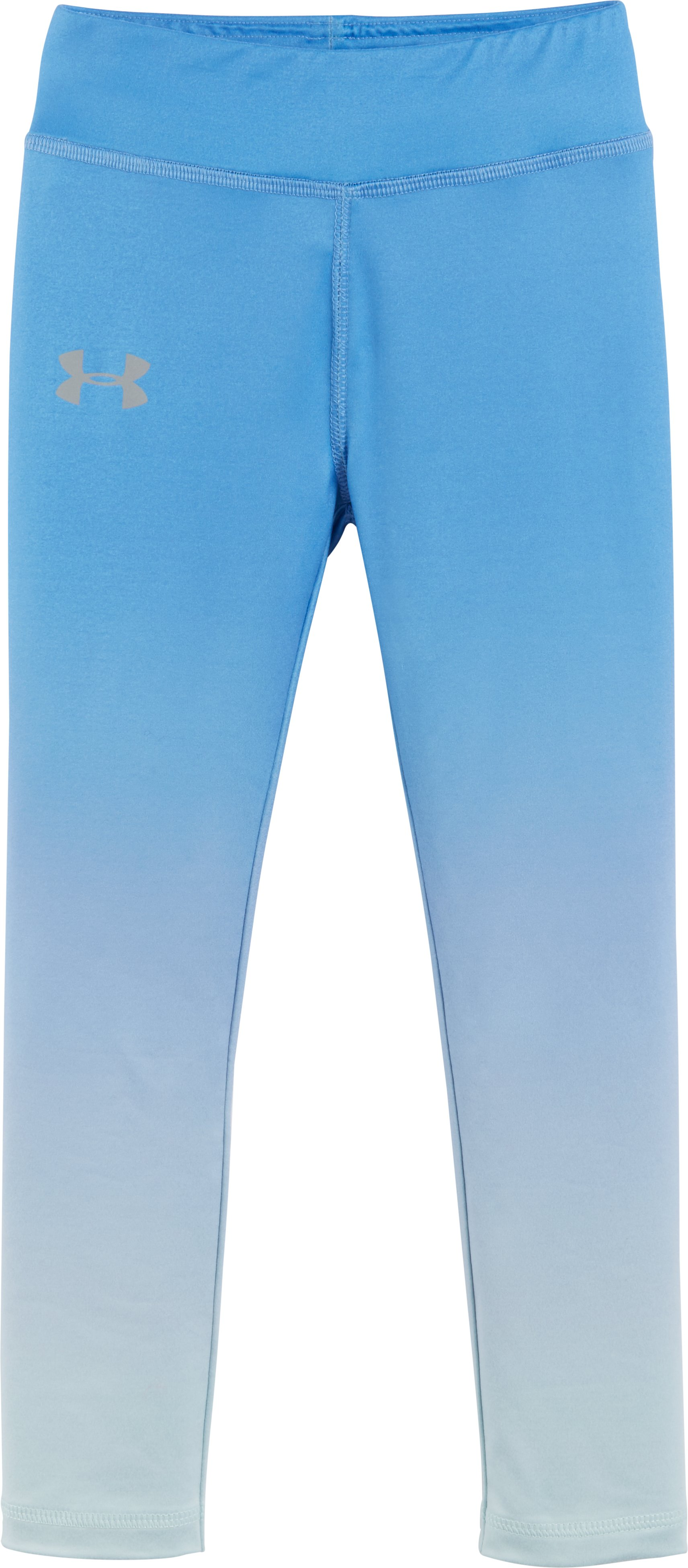 Girls' Pre-School UA Gradient Leggings, Water, Laydown