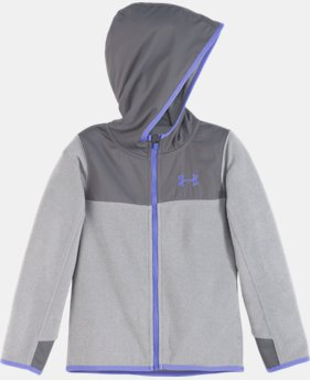 New Arrival Girls' Pre-School UA Hundo Full Zip Hoodie   $42.99