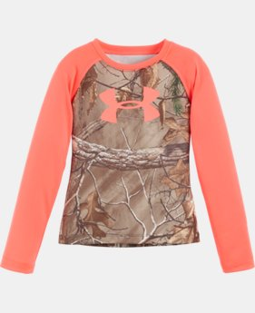 New Arrival Girls' Pre-School UA Camo Raglan   $34.99