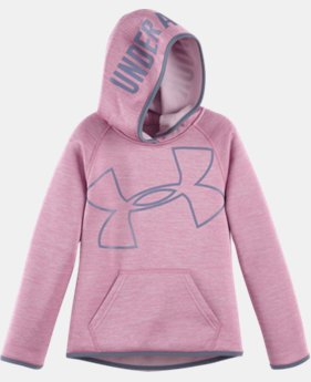 Girls' Pre-School UA Novelty Jumbo Logo Hoodie   1 Color $32.99