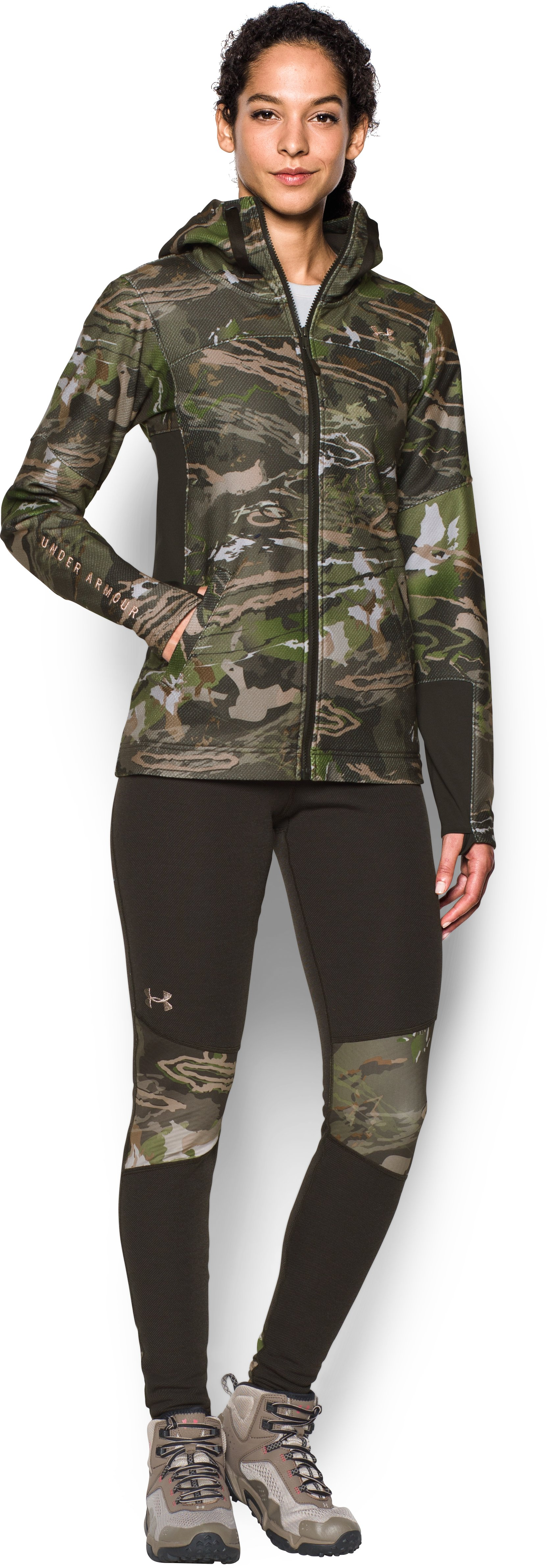 Women's  UA Early Season Full Zip Hoodie, RIDGE REAPER® FOREST, Front