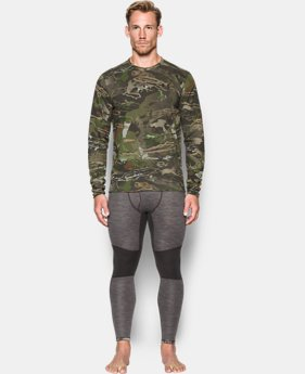 Men's UA Mid Season Reversible Wool Base Crew  3 Colors $99.99
