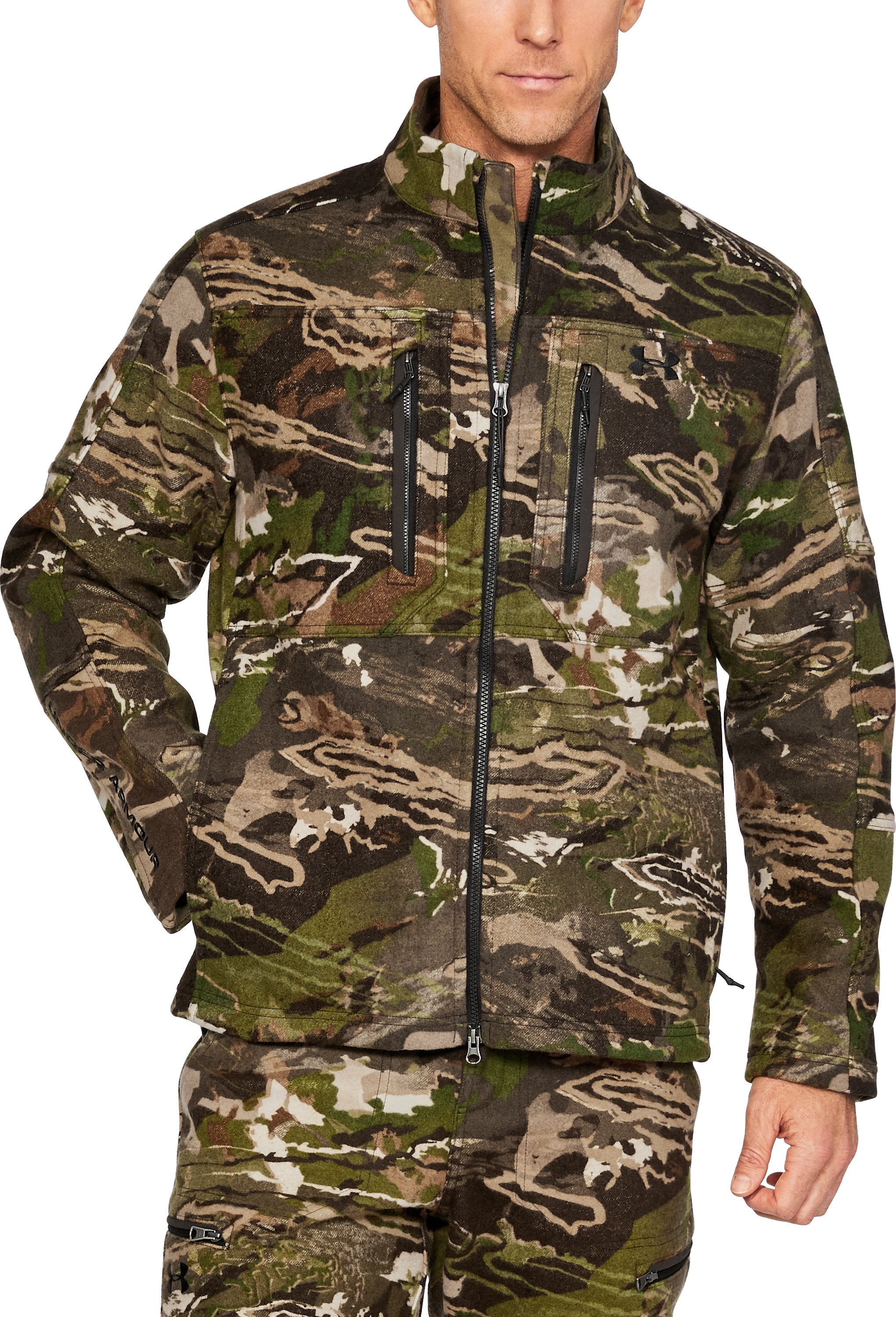 Men's UA Stealth Reaper Mid Season Wool Jacket, RIDGE REAPER® FOREST