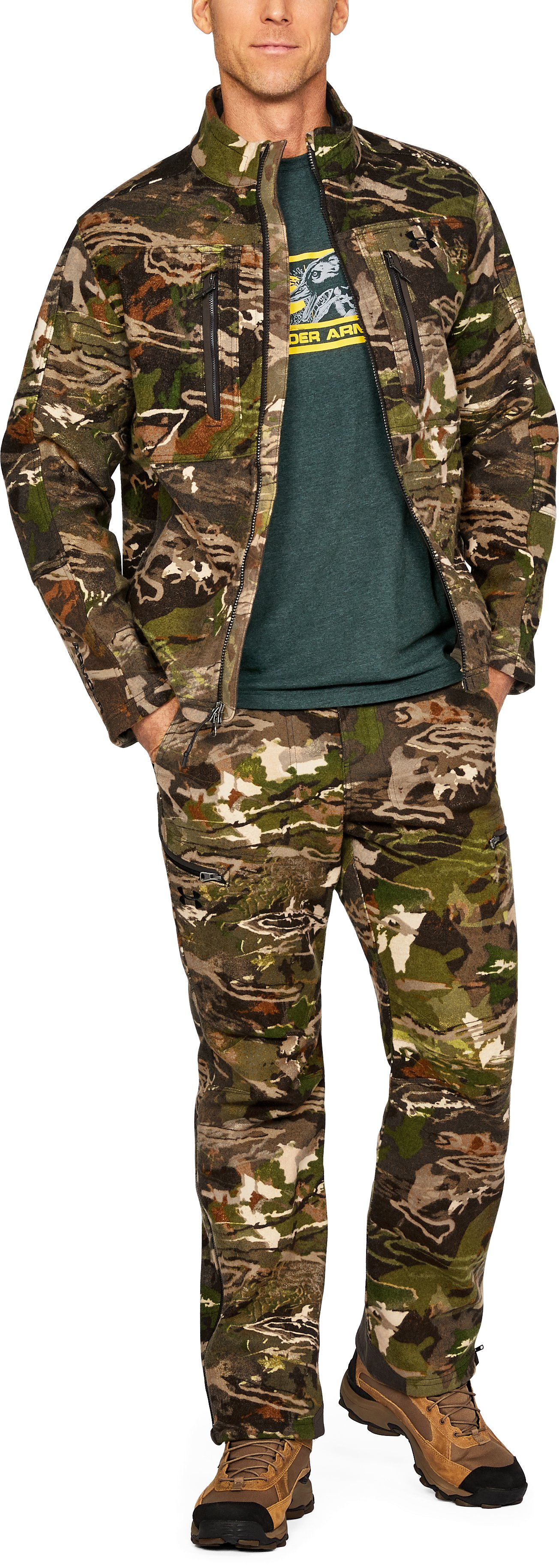 Men's UA Stealth Reaper Mid Season Wool Jacket, RIDGE REAPER® FOREST,