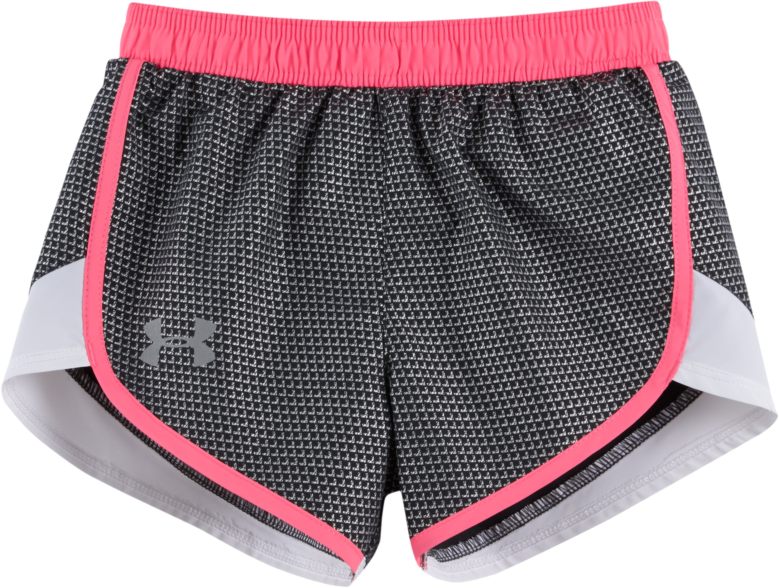 Girls' Toddler UA Checkpoint Fast Lane Shorts, STEALTH GRAY, Laydown