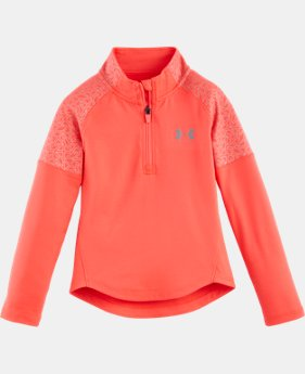 New Arrival Girls' Pre-School UA Chain Grid 1/4 Zip   $34.99