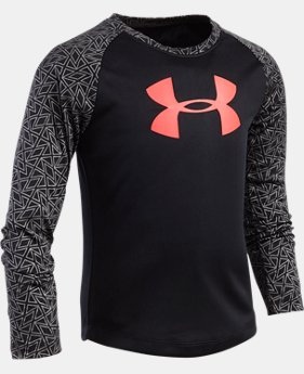 New Arrival Girls' Pre-School UA Chain Grid Raglan   $29.99