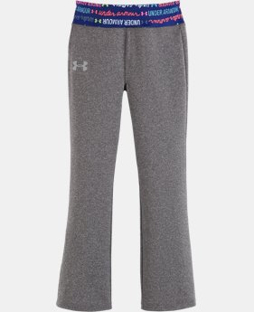 New Arrival Girls' Pre-School UA Wordmark Yoga Pants   $27.99