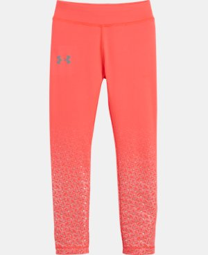 New Arrival Girls' Toddler UA Chain Grid Shimmer Leggings   $29.99