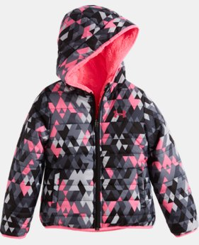 New Arrival Girls' Pre-School UA Tri Meta Feature Reversible Puffer Jacket   $84.99