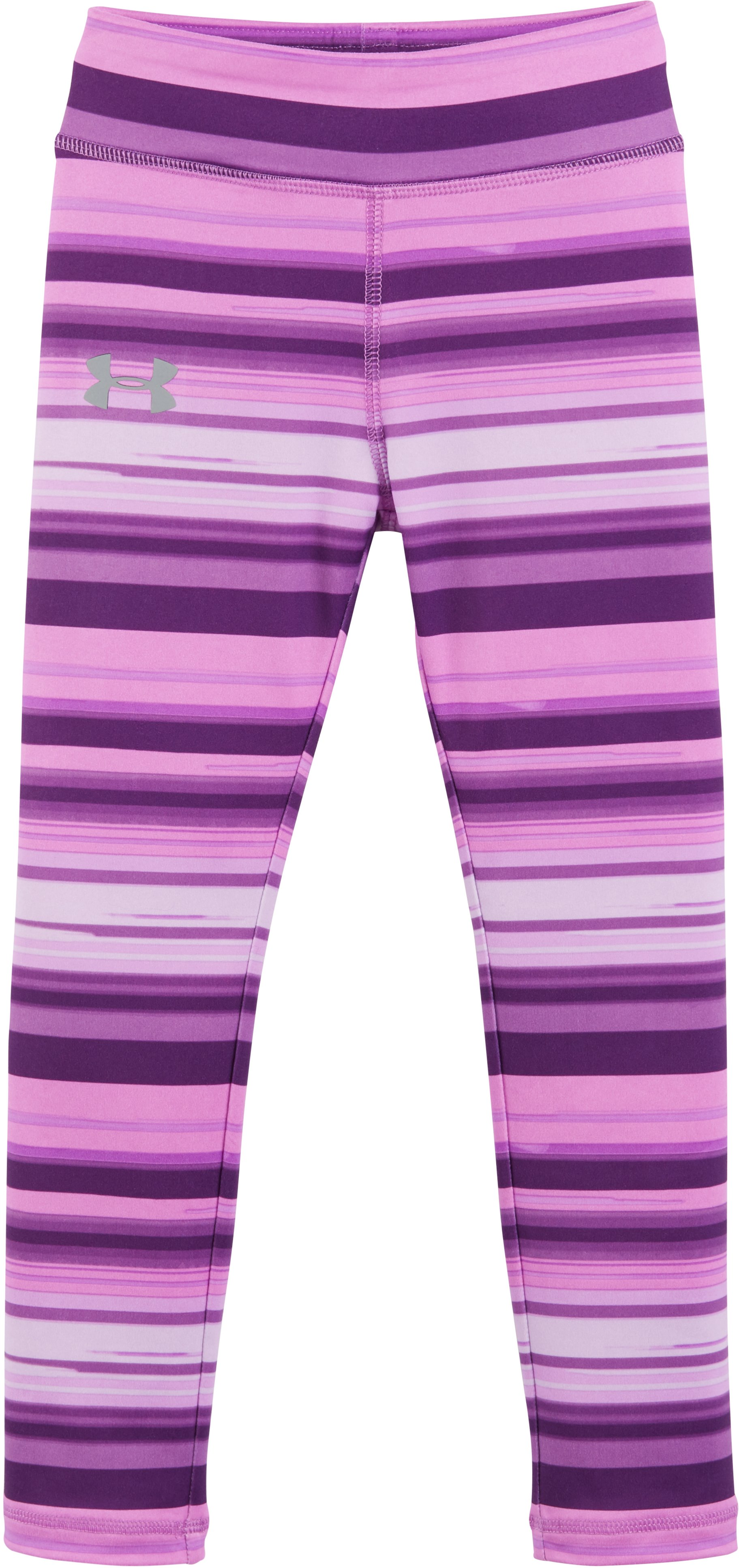 Girls' Pre-School UA Blurred Stripe Shimmer Leggings, Hendrix, Laydown