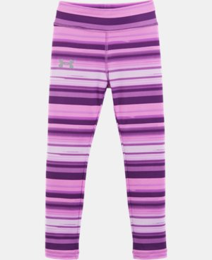 New Arrival Girls' Pre-School UA Blurred Stripe Shimmer Leggings   $29.99