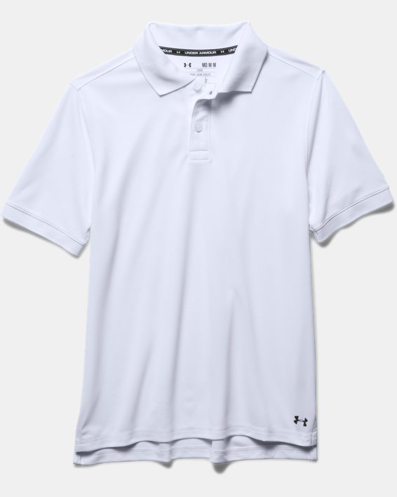 UA Uniform Short Sleeve Polo - Pre-School, White, pdpMainDesktop image number 2