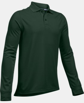 Boys' UA Uniform Long Sleeve Polo  6  Colors Available $34.99 to $35