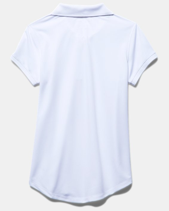 Girls' UA Uniform Short Sleeve Polo - Pre-School, White, pdpMainDesktop image number 3