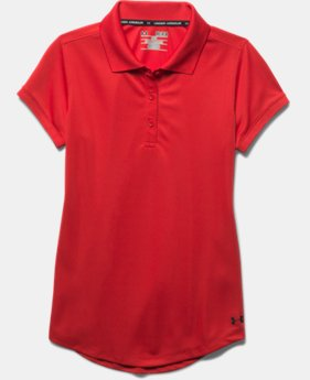 Girls' UA Uniform Short Sleeve Polo – Pre-School  4  Colors Available $26.99