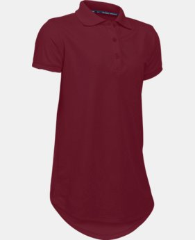 Girls' UA Uniform Short Sleeve Polo – Pre-School  1  Color Available $26.99 to $27