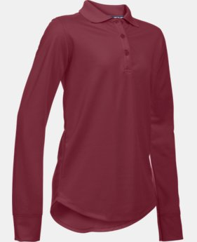 Girls' Pre-School UA Uniform Long Sleeve Polo  1  Color Available $31.99 to $32