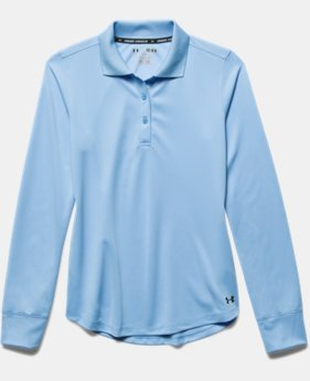 Girls' UA Uniform Long Sleeve Polo  4  Colors Available $34.99
