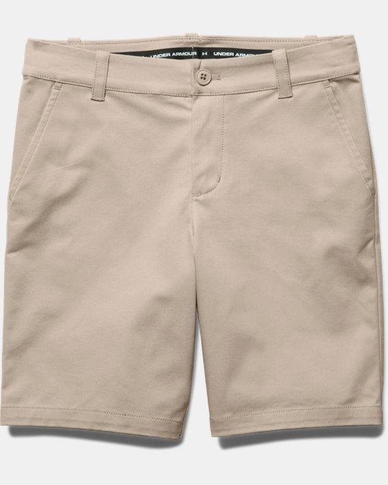 Girls' UA Uniform Chino Shorts, Brown, pdpMainDesktop image number 2