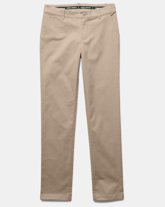 Girls' UA Uniform Chino Pants - Pre-School, Brown, pdpMainDesktop image number 2