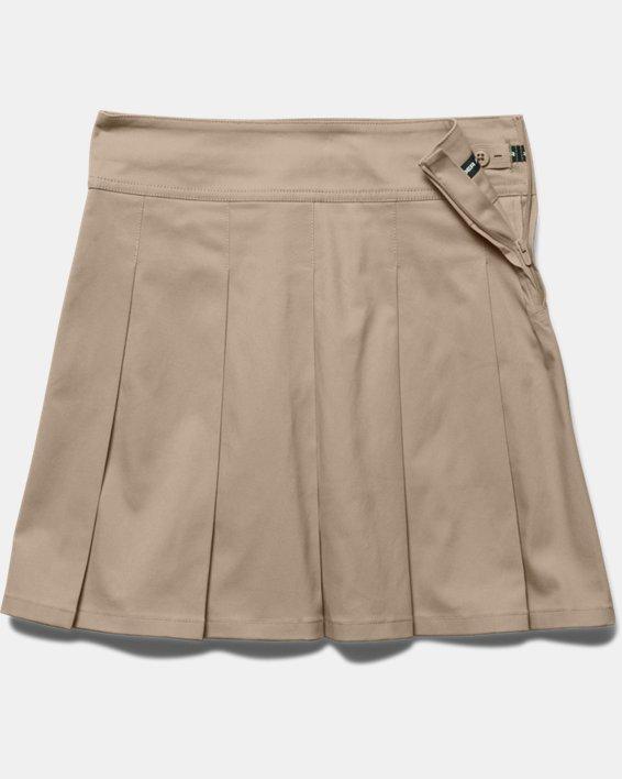 Girls' UA Uniform Skort - Pre-School, Brown, pdpMainDesktop image number 2