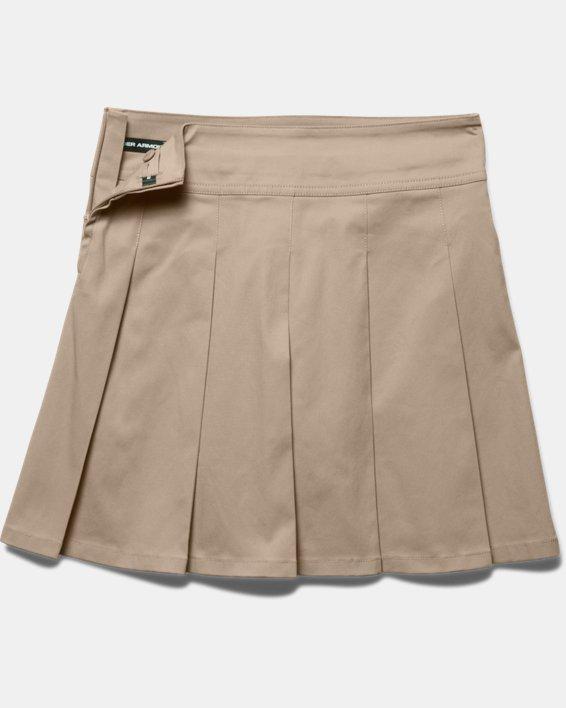 Girls UA Uniform Skort, Brown, pdpMainDesktop image number 3