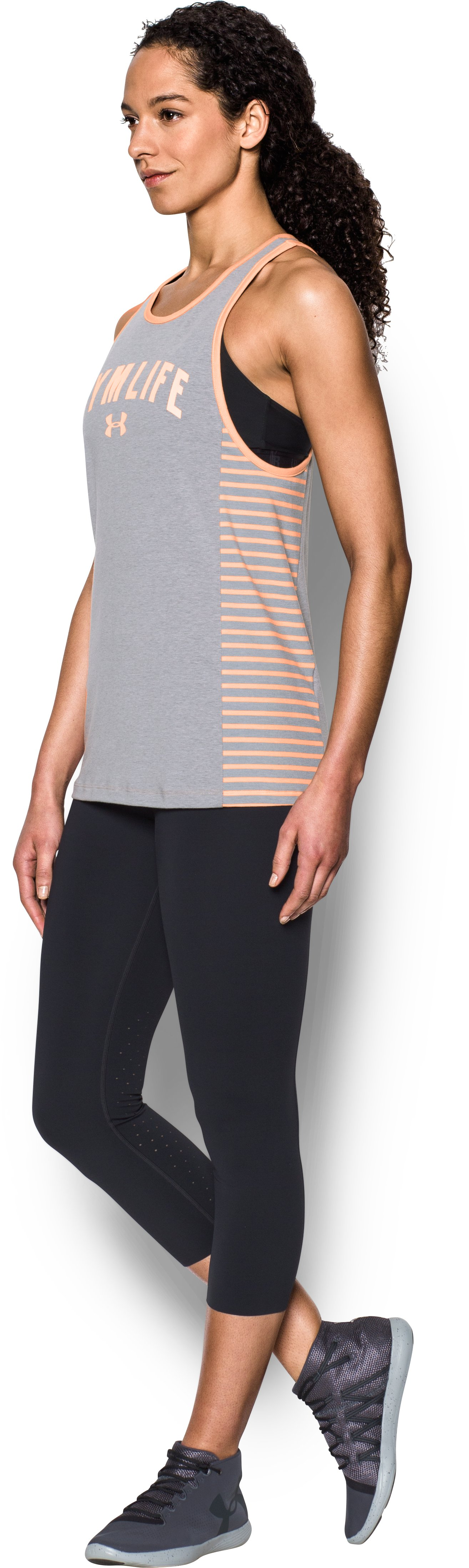 Women's UA Rest Day Gym Life Tank, True Gray Heather