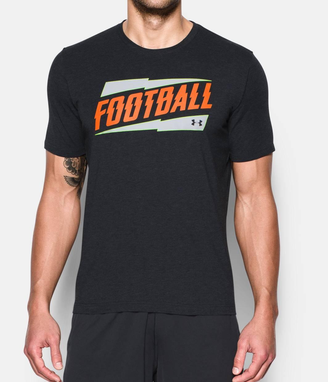 Men 39 s georgia ua football t shirt under armour us for Under armor football shirts
