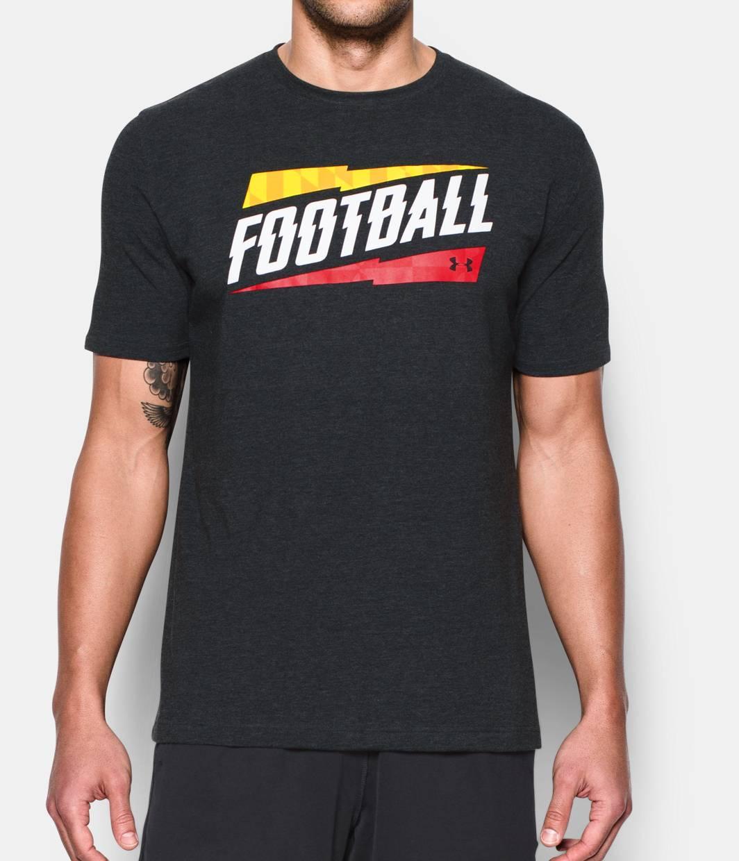 Men 39 s maryland ua football t shirt under armour us for Under armor football shirts