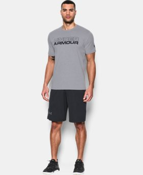 New Arrival Men's UA Stacked Fragment T-Shirt LIMITED TIME: FREE SHIPPING 2 Colors $24.99