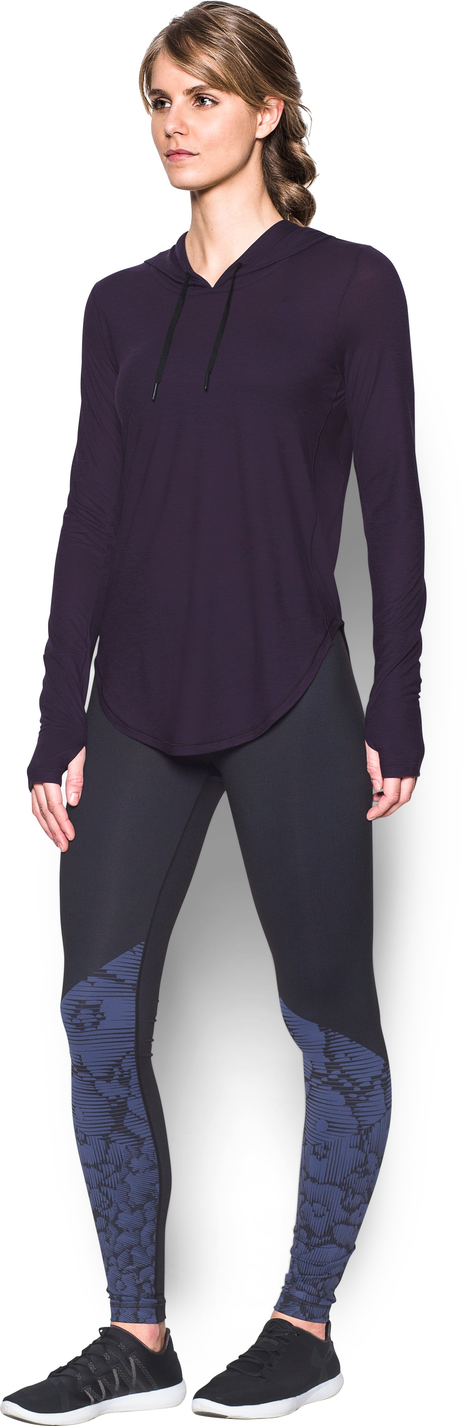 Women's UA Supreme Hoodie, IMPERIAL PURPLE, undefined