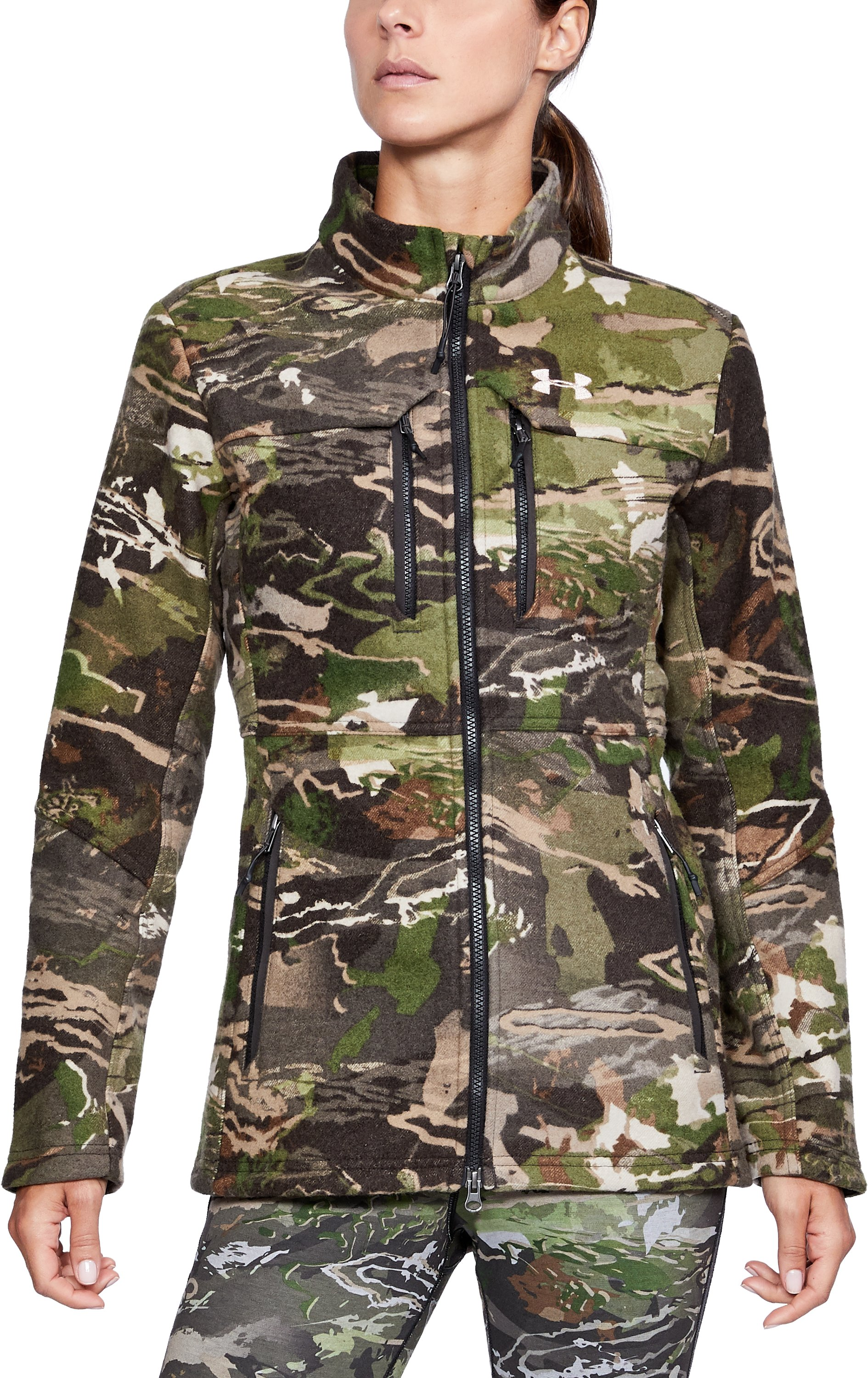 Women's UA Mid Season Wool Jacket, RIDGE REAPER® FOREST