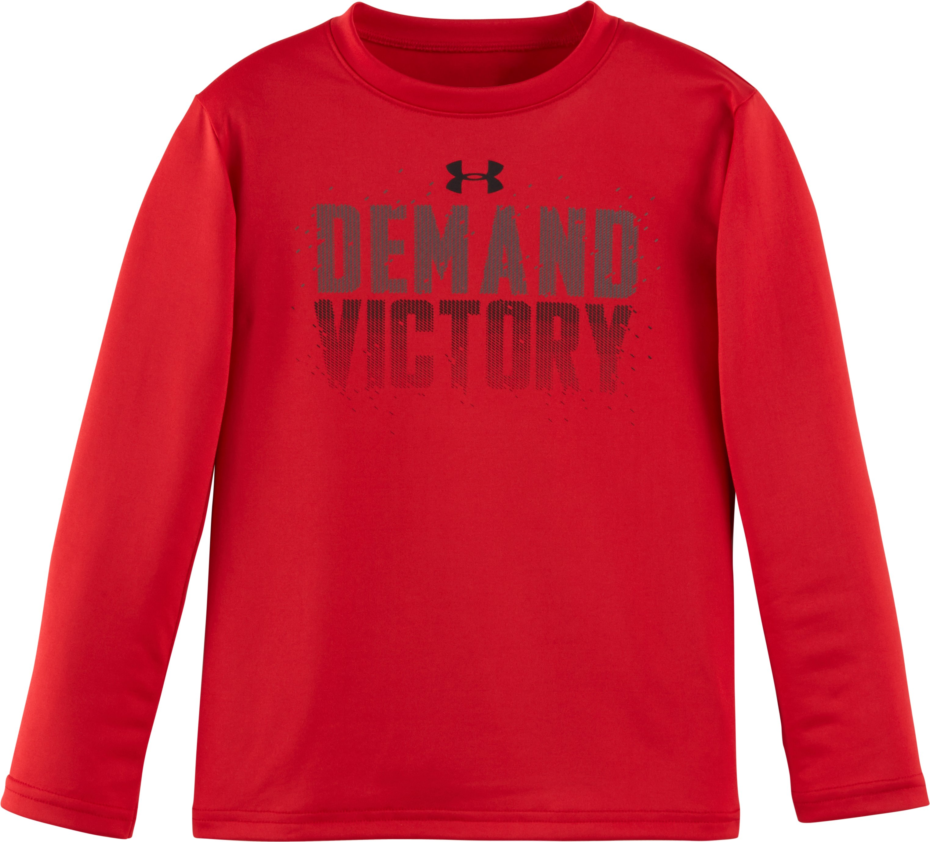 Boys' Infant UA Demand Victory Long Sleeve, Red, Laydown